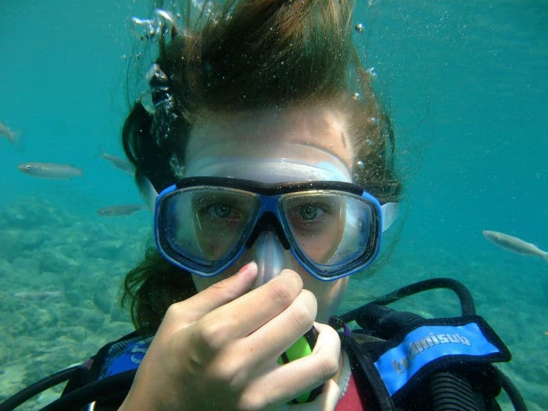 Scuba Diver Equalizing Mask Tips
