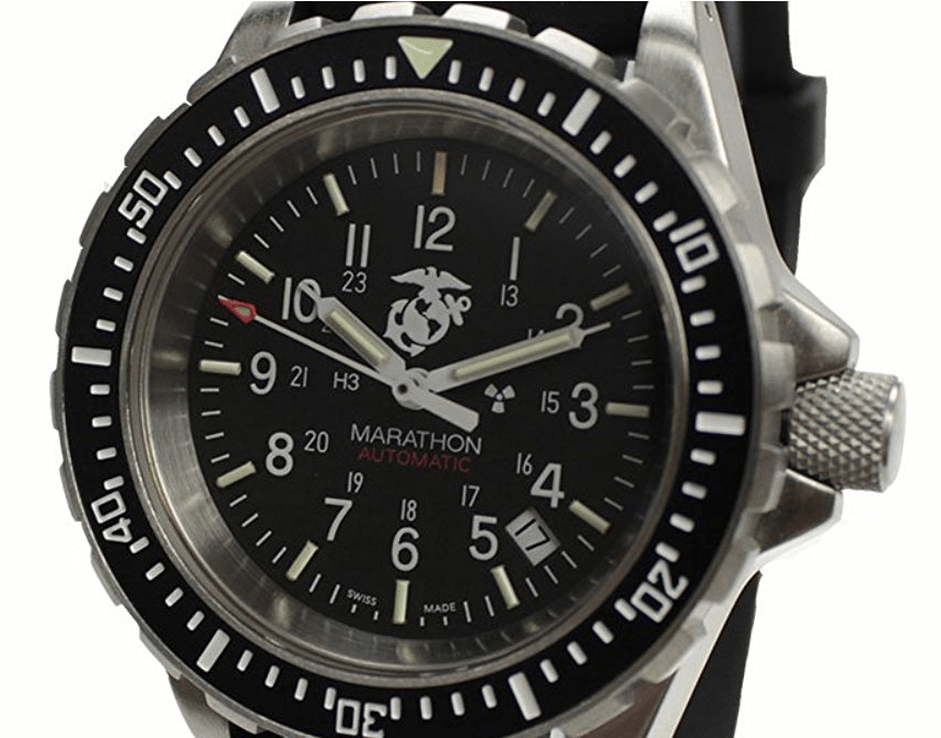 MARATHON WW194006USMC Swiss Made Military Diver's Automatic Officially Licensed Watch with Tritium