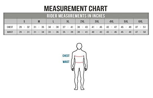 MotoAir Leather Airbag Jacket Size chart
