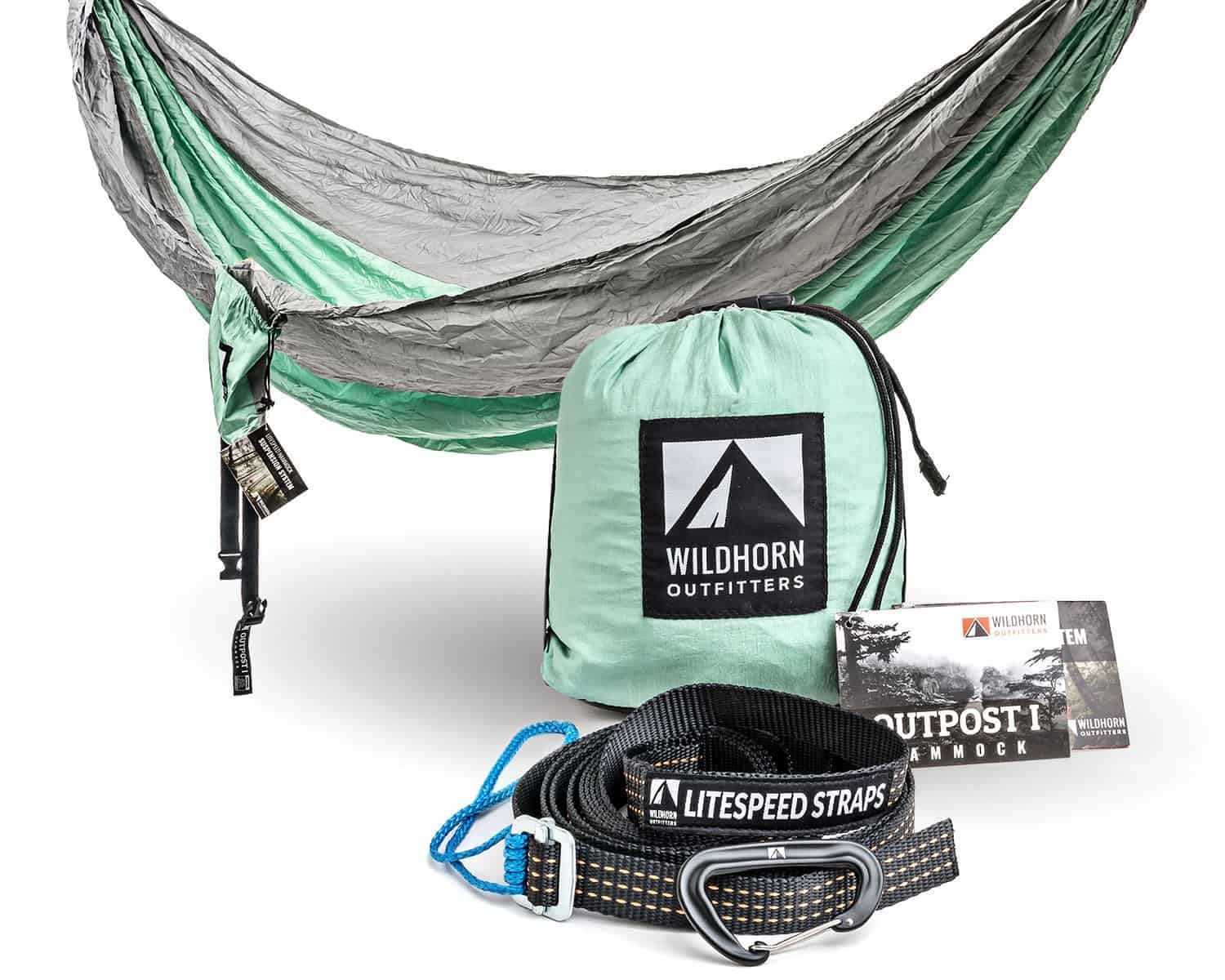 Wildhorn Outfitters Outpost Hammock Silver / Lime Green