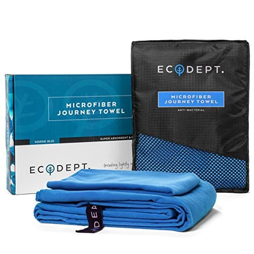 EcoDept Microfiber Journey Towel Blue