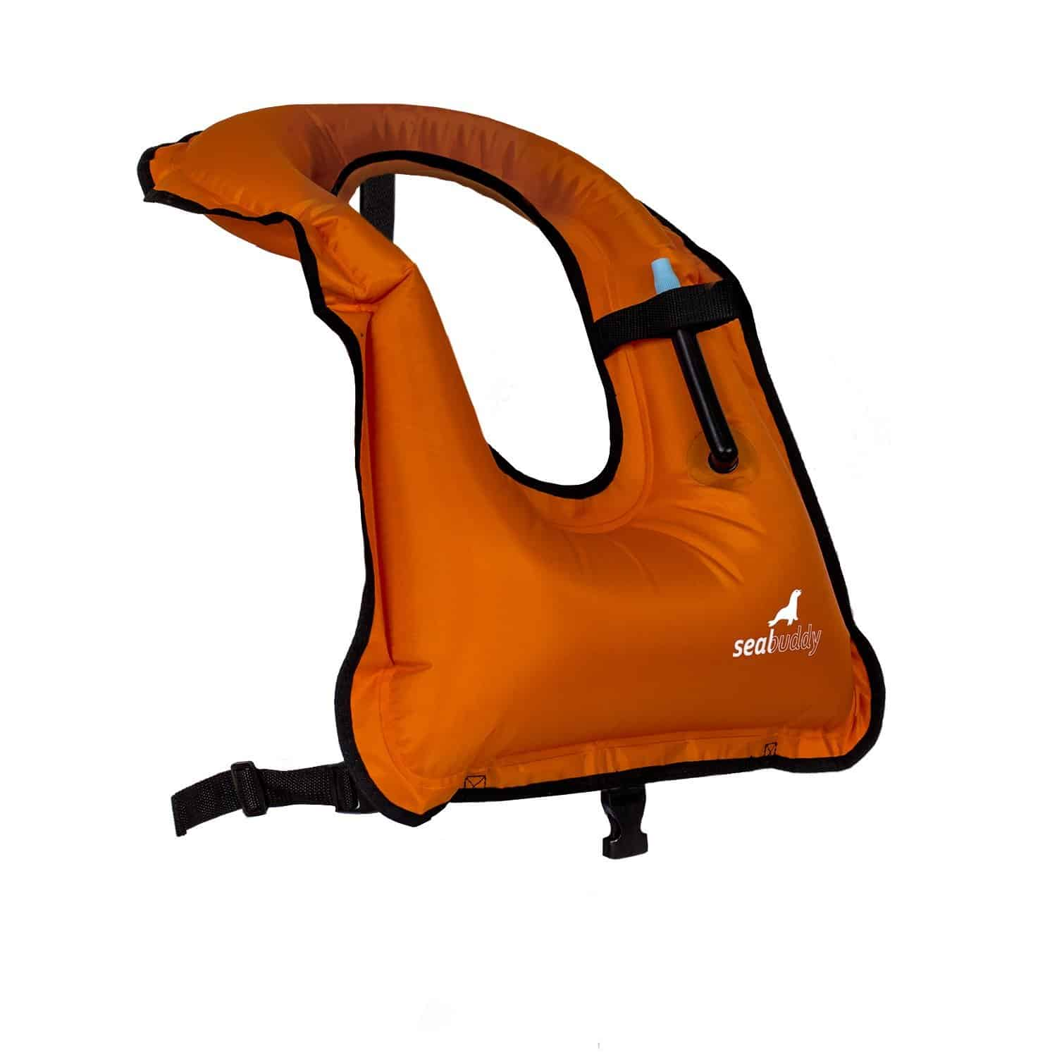 SealBuddy Inflatable Snorkel Vest Orange