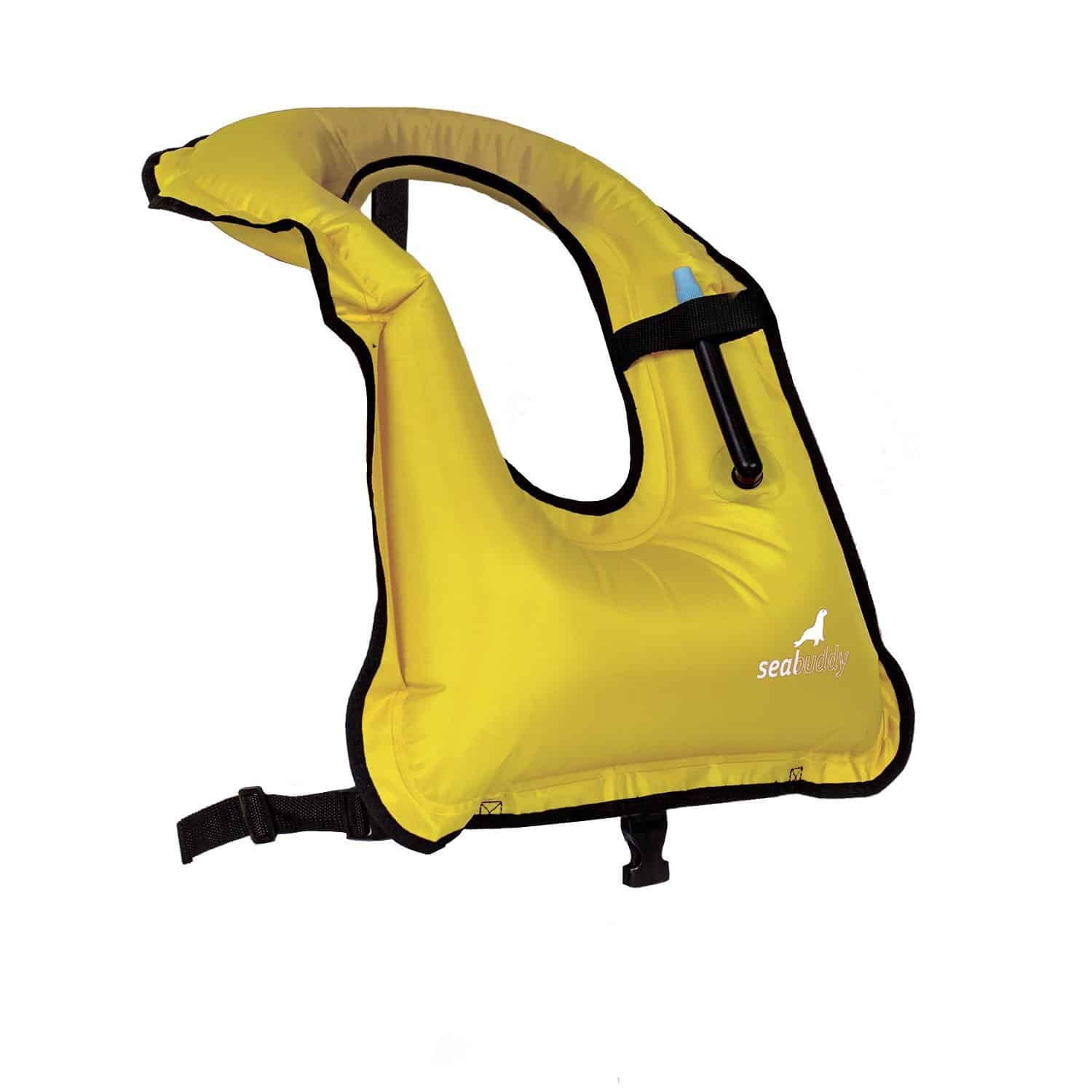 SealBuddy Inflatable Snorkel Vest Yellow