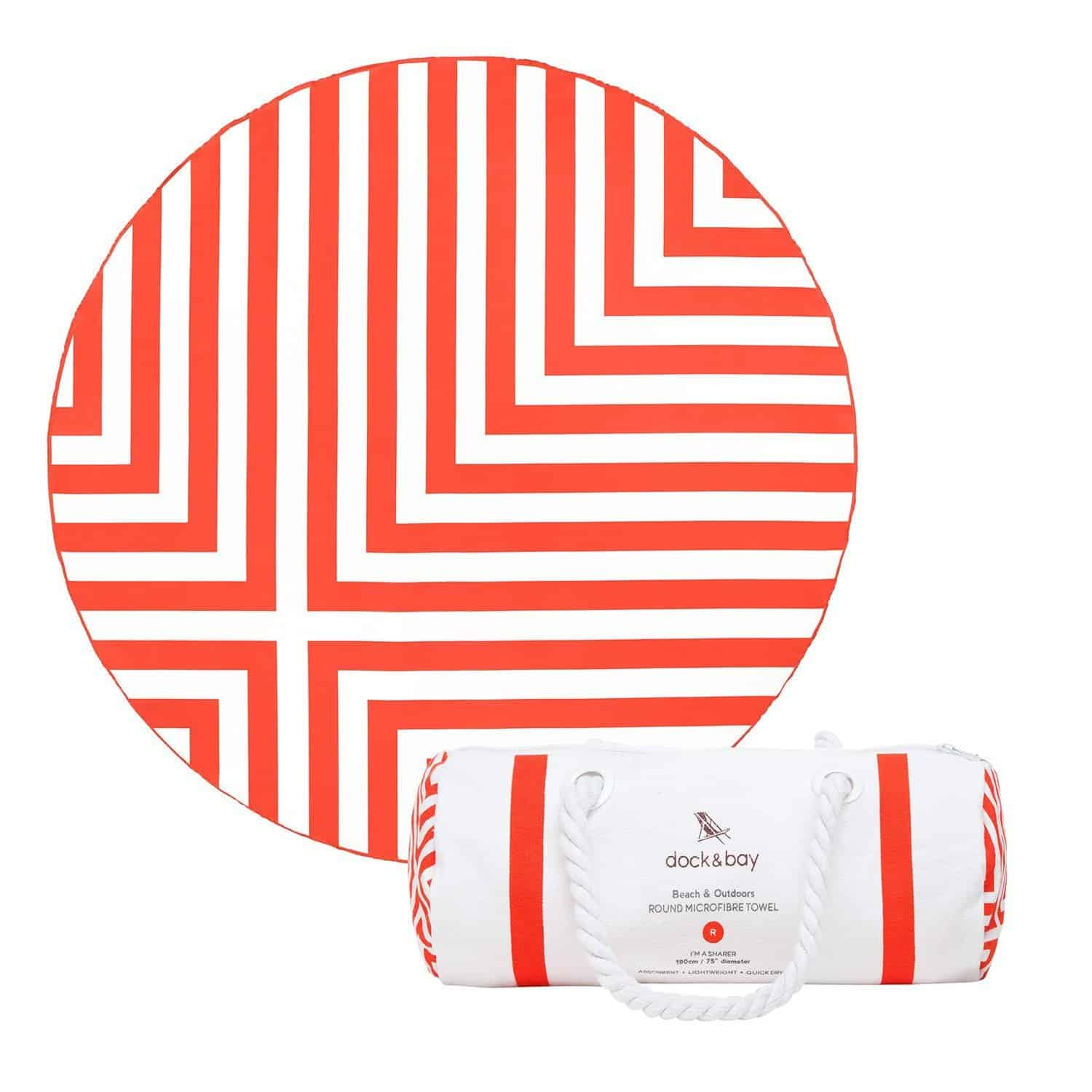 Dock and Bay Round Beach Towel