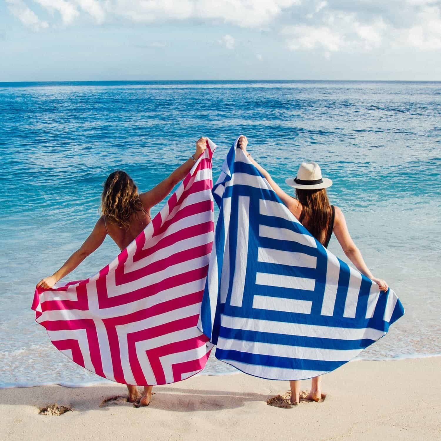 Dock and Bay Round Beach Towels