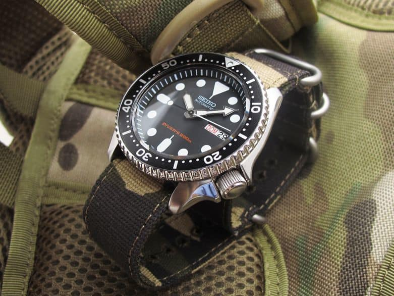 Seiko SKX007 with Nato Camo Band