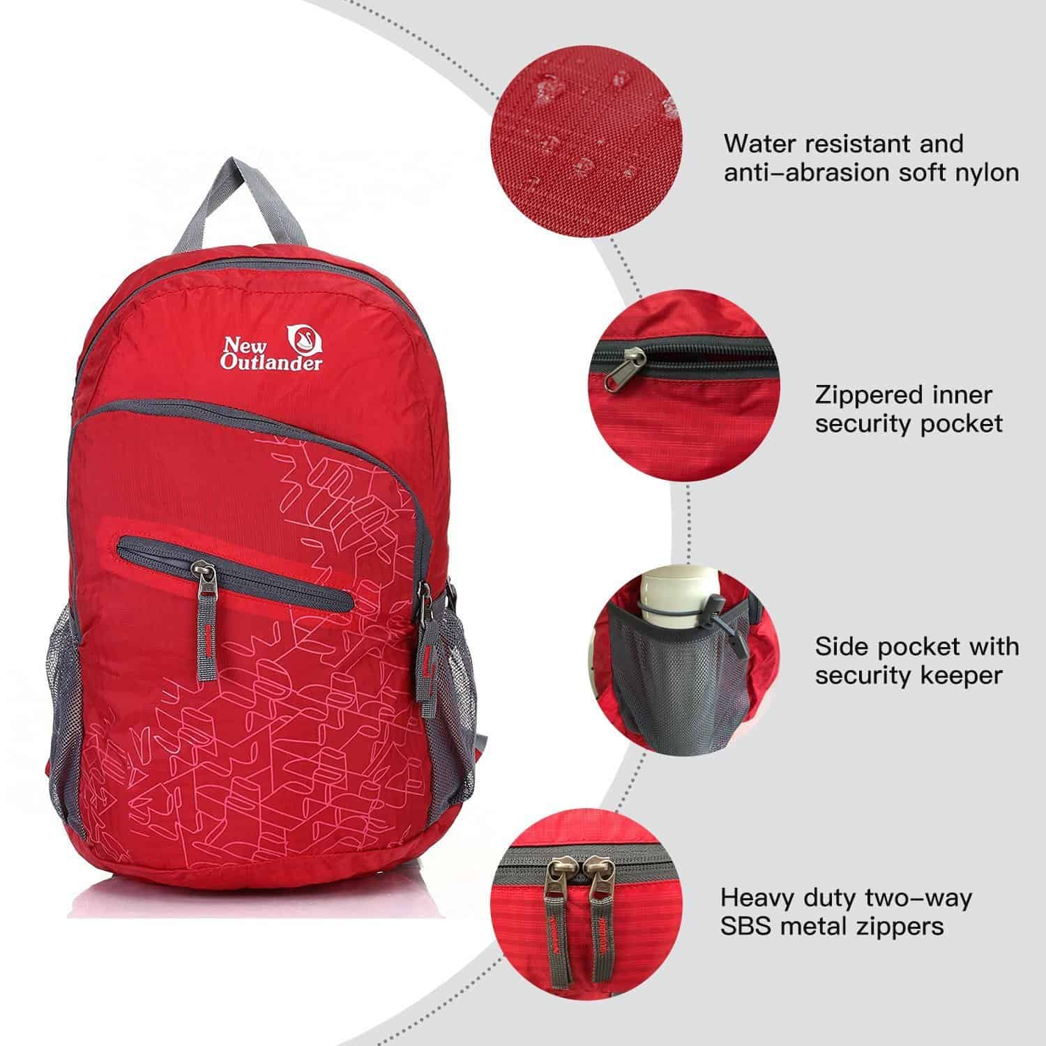 New Outlander BackPack features Red