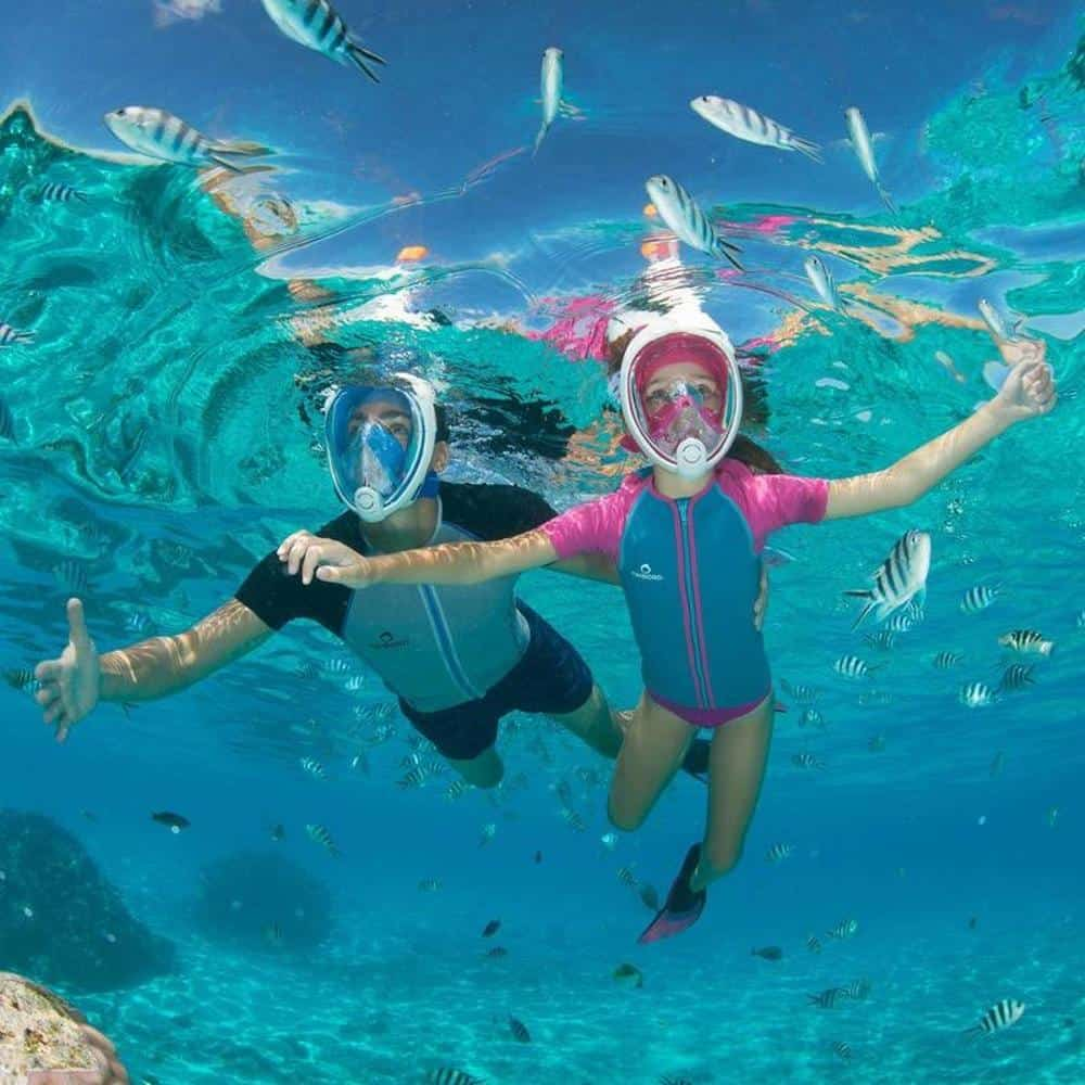 Full face snorkeling mask for children
