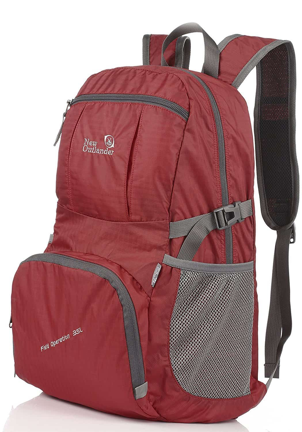New Outlander Packable LIghtweight Travel Hiking Backpack Daypack Red