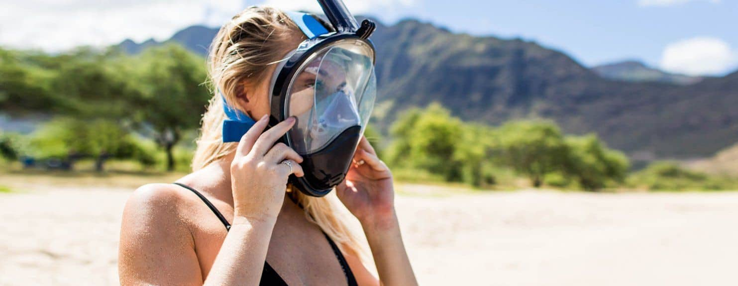 Wildhorn Outfitters Seaview Go Pro Compatible Snorkel Mask