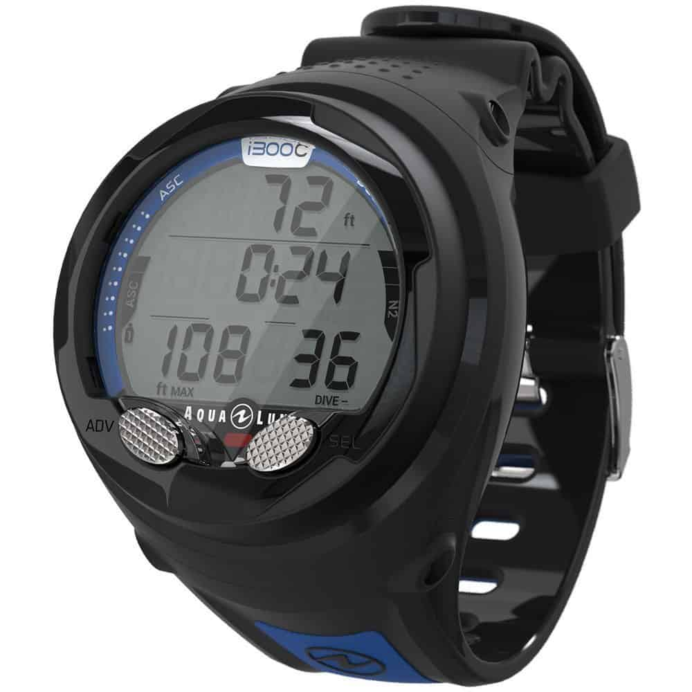 AquaLung i300 C Wrist Dive Computer Blue Black