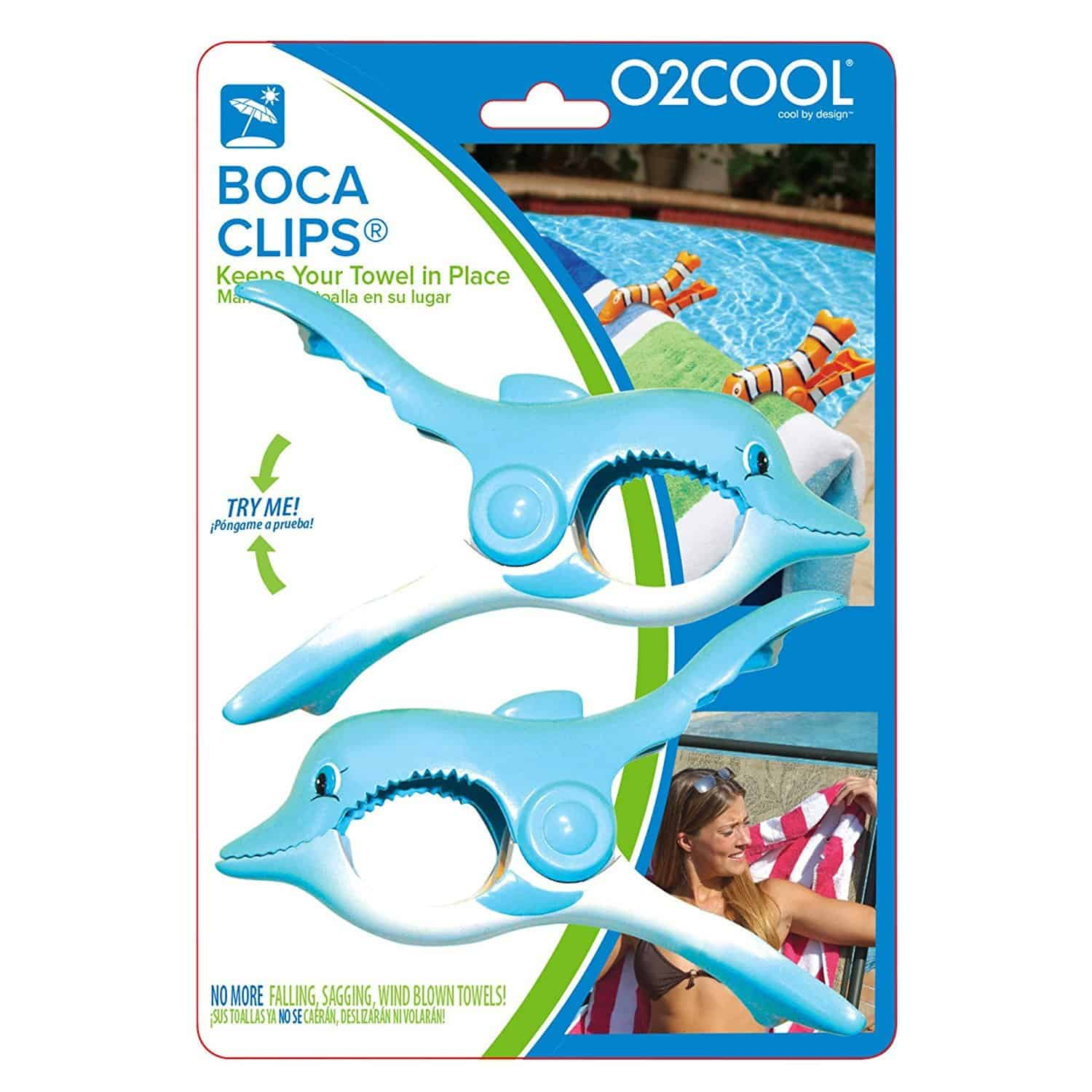 Dolphin Boca Clips O2Cool for beach chairs