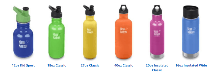 Klean Kanteen Classic Single Wall Stainless Steel Bottle With Leak Resistant