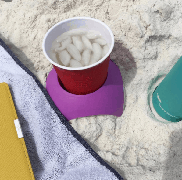 Turtle Back Sand Coasters will keep sand off the bottom of your drinks and cans
