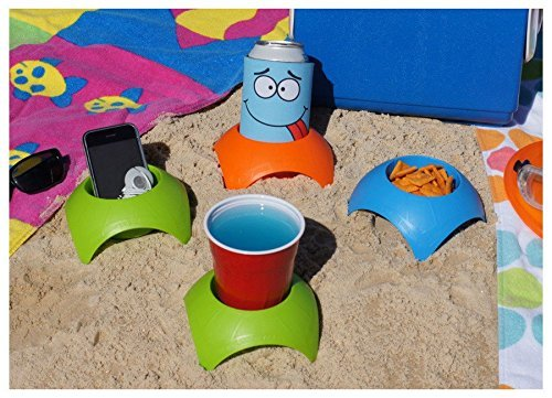 Turtle Back Sand Coasters come as a 4-pack