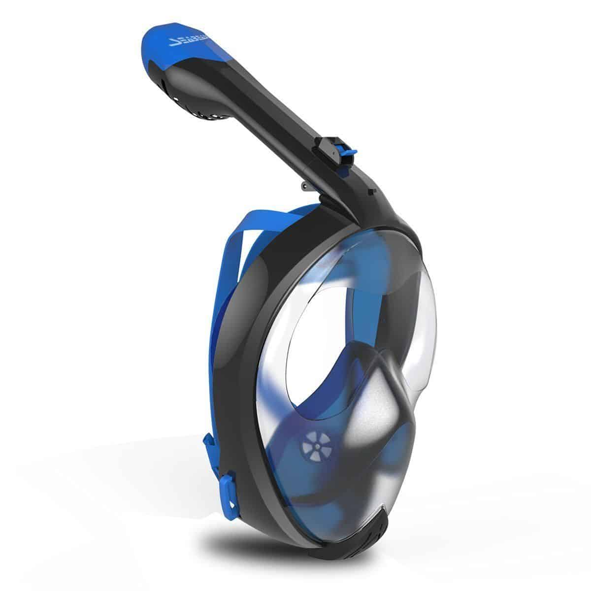Seabeast AF90 Anti Fog Full Face Snorkel Mask Blue
