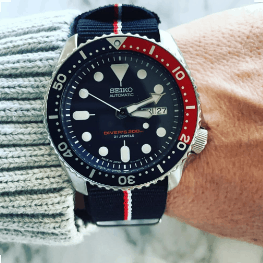 2019 Seiko Divers Automatic Skx009 With Pepsi Blue Bezel
