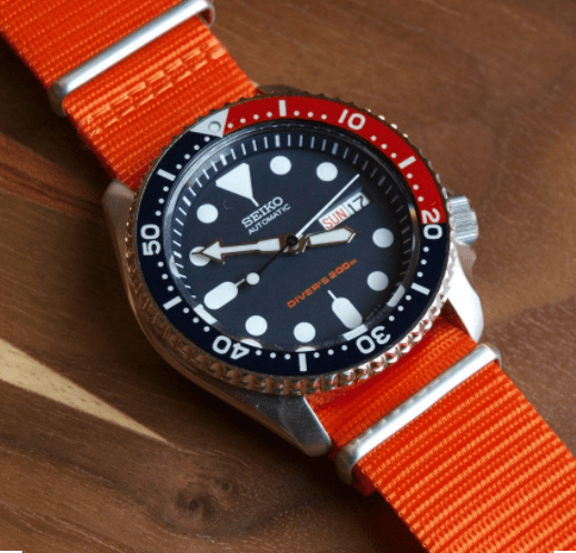 Seiko SKX009 with nato band