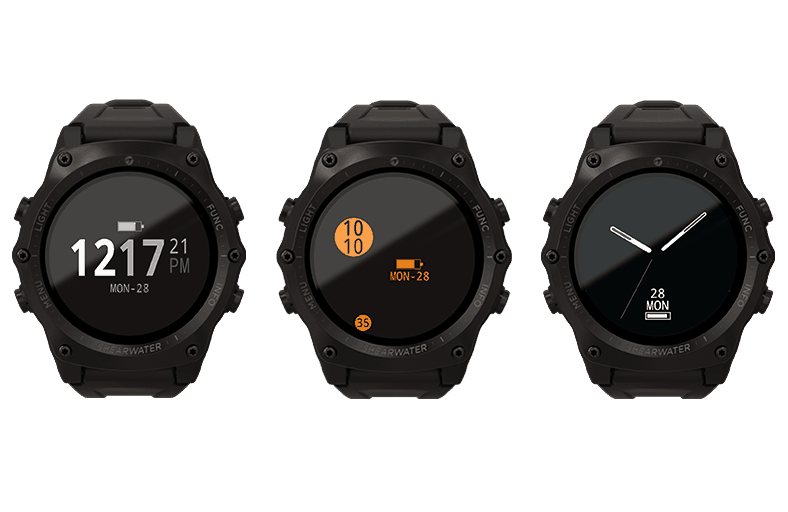 Teric Dive Computer Watch Face options