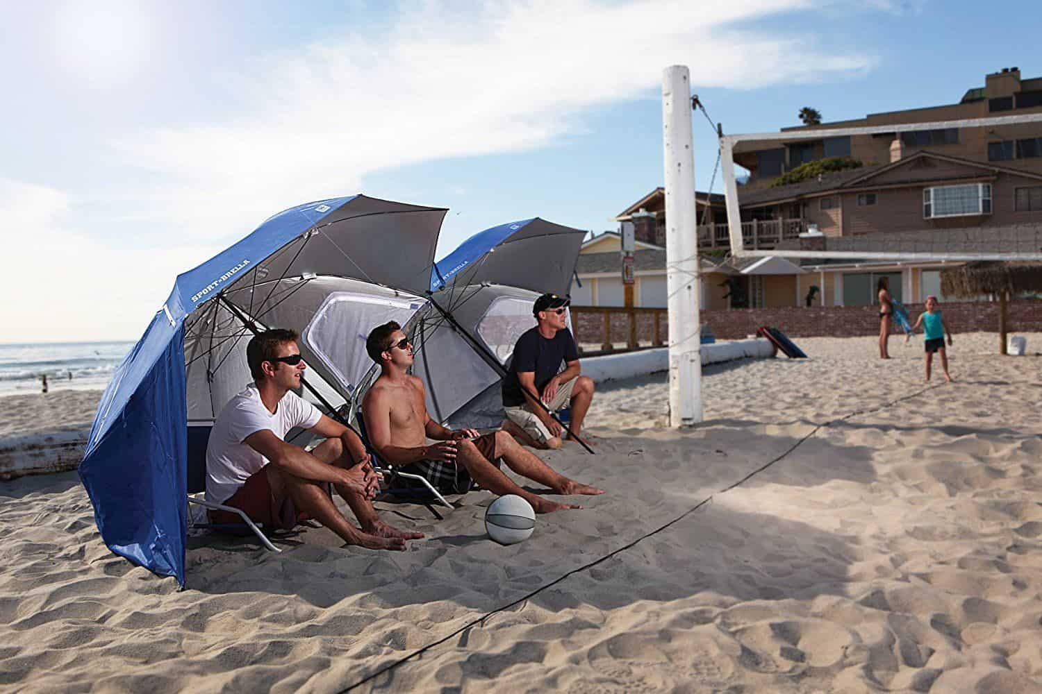 The Sport-Brella Beach Shade is great for providing shade for all types of events.