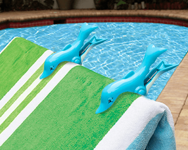 Dolphin Boca Clips O2Cool for beach towels & chairs