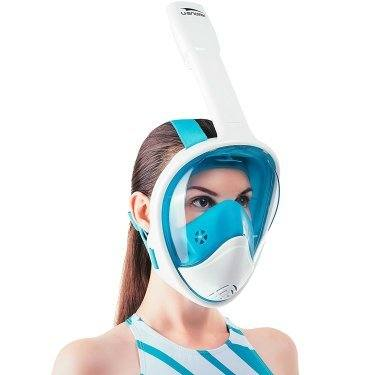 USnork full face snorkel mask White-Blue
