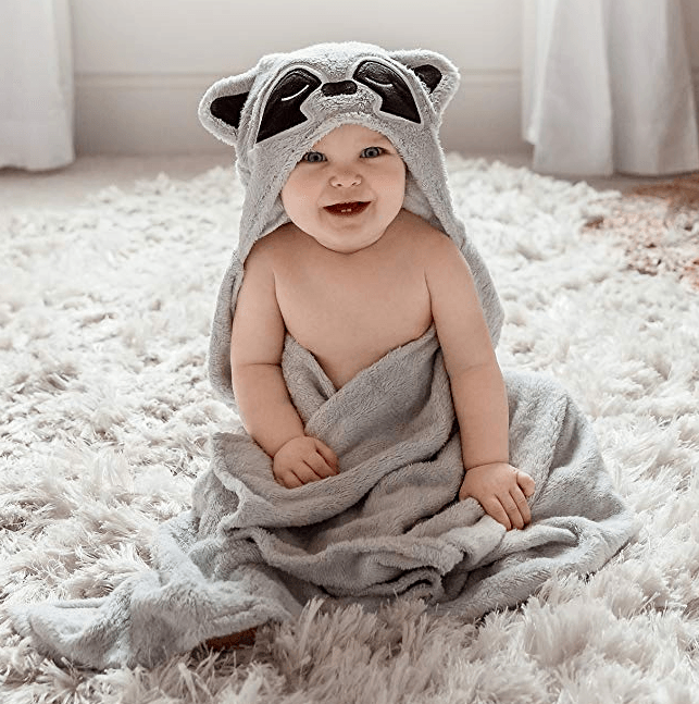 Natema Hooded Baby Towel Raccoon