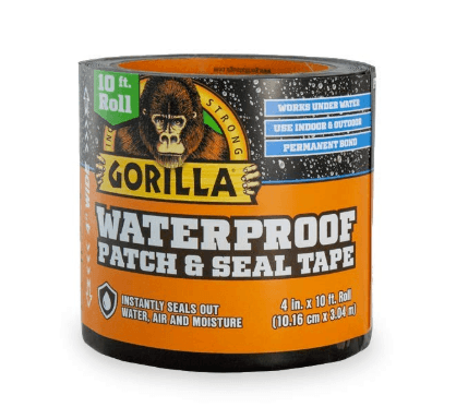 Gorilla Tape Patch and Seal Black Duct Tape