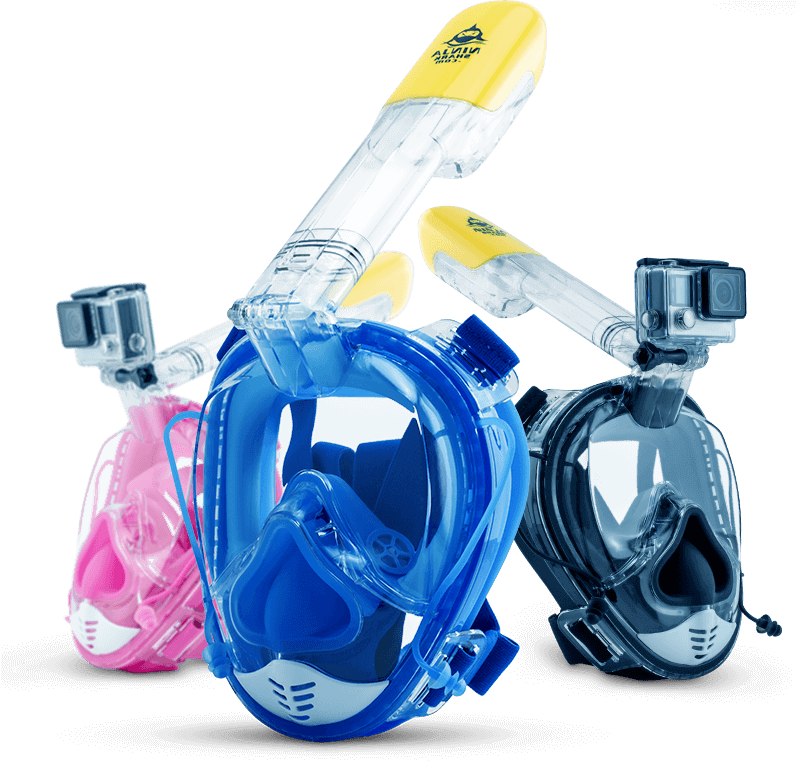 Ninja Shark Full Face Snorkel Mask