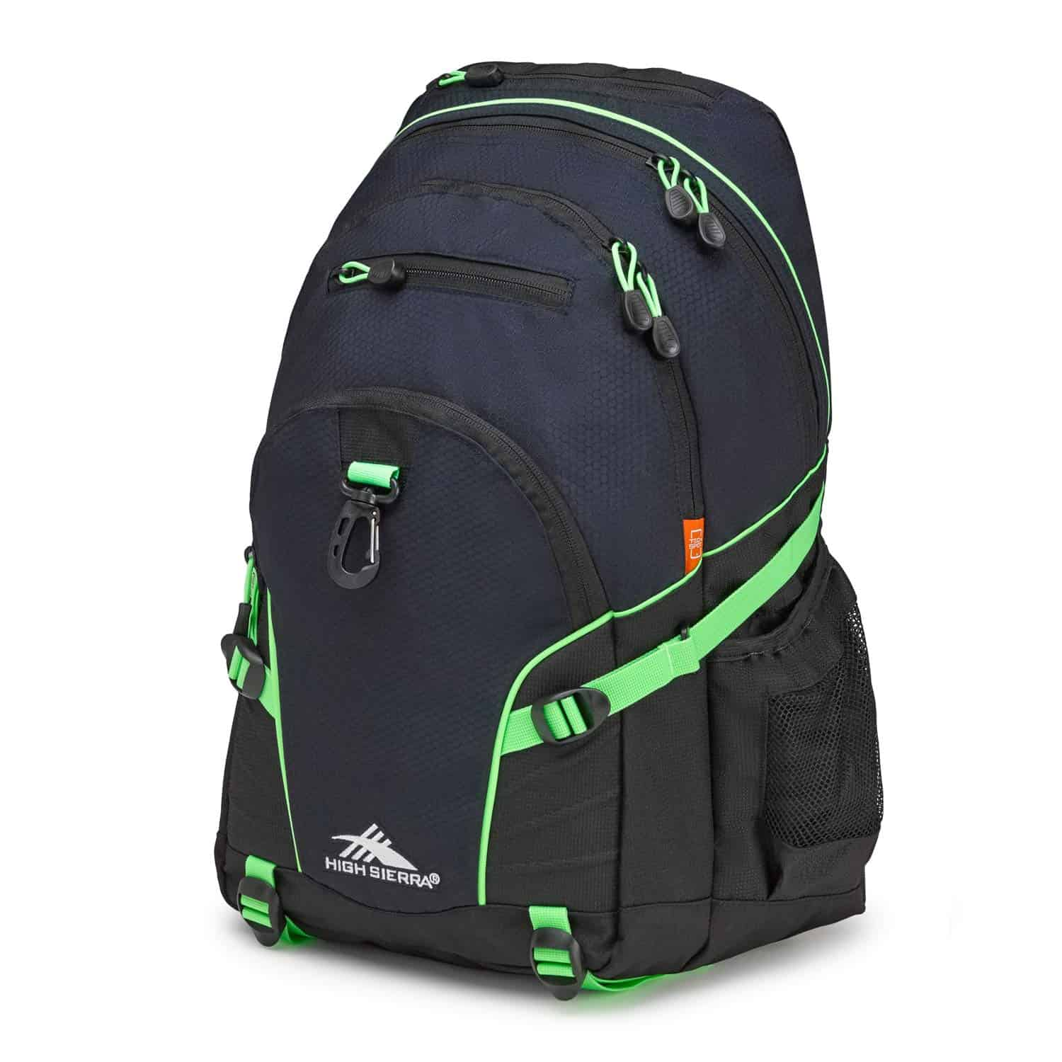 High Sierra Loop Backpack for Men and Women Midnight Blue-Black-Lime