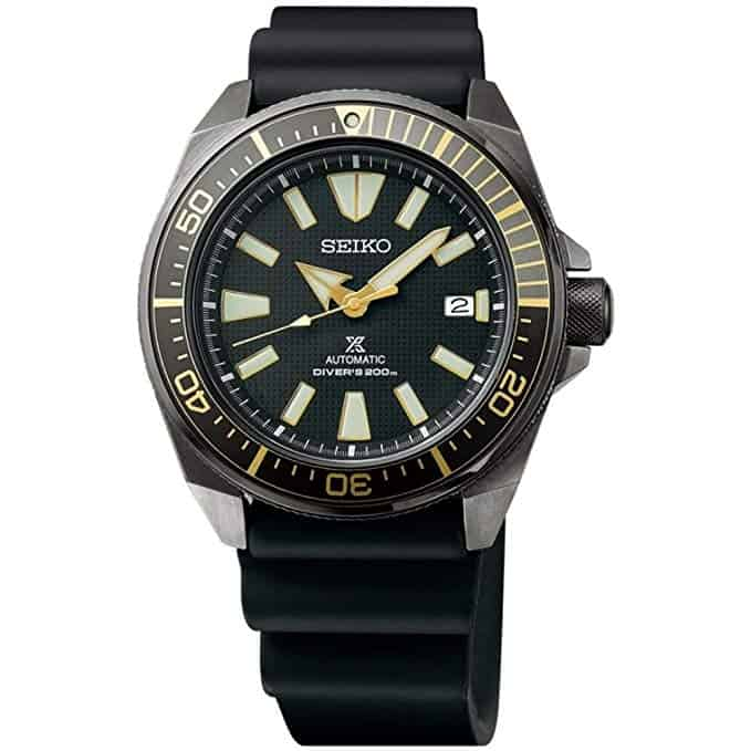 Seiko SRPB55 Mens Black Divers Watch