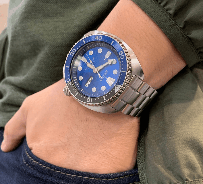 Seiko Prospex SRPD21 Turtle on wrist