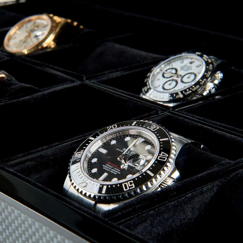 12 Slot Watch Box Organizer with Lock